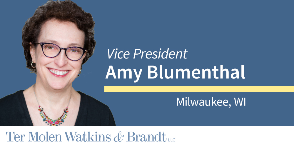 Welcome Amy Blumenthal to TW&B