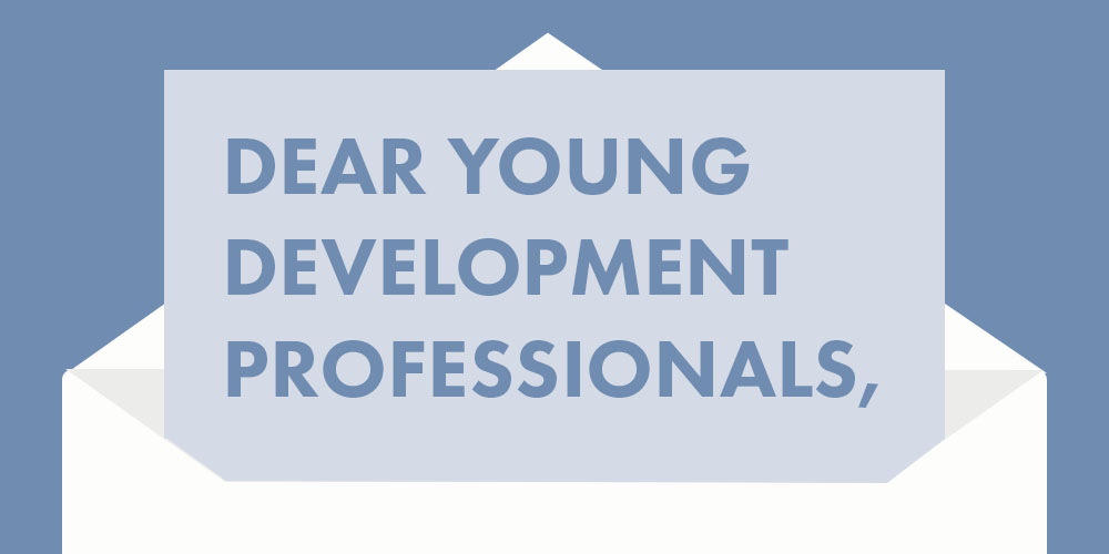 Dear Young Development Professionals