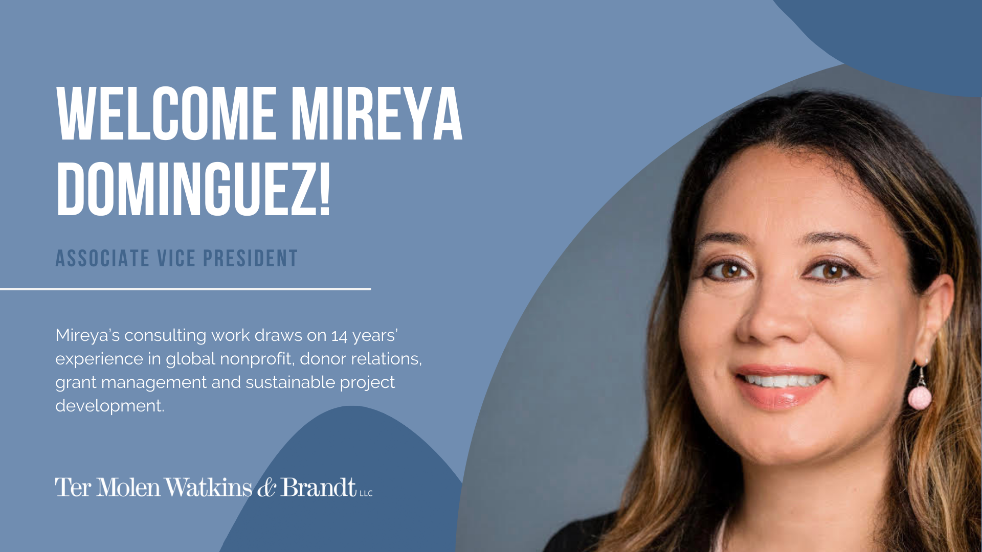 An Interview with Mireya Dominguez - Welcome to the TW&B Team!